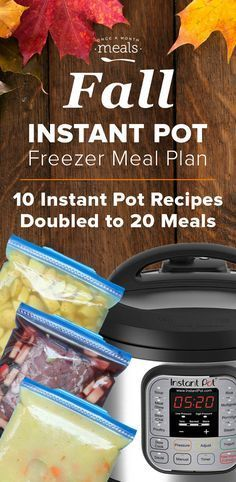 Multiple recipes for instant pot