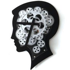 WALL CLOCK-3D Gear Home UNIQUE modern relógio-art decor jam dinding room