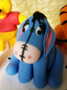 Fondant Winnie the Pooh and Friends Cake Toppers//// I love Eeyore!