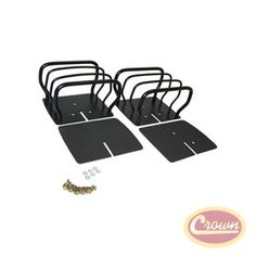 Euro Guard Set (Black). Replaces Part #: 8660. Fits: Jeep CJ (1976-1986); Black; Rear Lamp Guards; Sold In Pairs. Jeep Wrangler (1987-2006); Black; Rear Lamp Guards; Sold In Pairs.