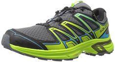 Salomon L39186400, Chaussures de Trail Homme, Multicolore-Rouge/Vert (Briquex/Radiant Red/Gecko Green), 46 2/3 EU