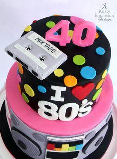 80's Themed 40th Birthday Cake