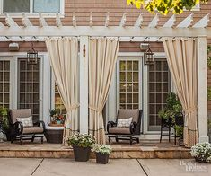 22 Awesome Pergola Patio Ideas | Patio landscaping White Pergola, Small Pergola, Pergola Attached To House, Pergola Swing, Pergola With Roof, Outdoor Pergola, Pergola Lighting, Wooden Pergola, Backyard Pergola