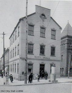 City Hall on Penn Square, Lancaster, Pa 1890.