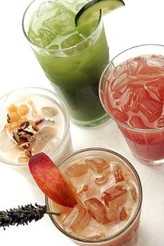 Agua Frescas - fancy water! this recipe in particular (Peach-Lavender) sound sophisticated and beautiful but don't let this recipe stop you from getting creative.  Mango and mint, melon and agave nectar, watermelon and basil.  Your options are really endless!