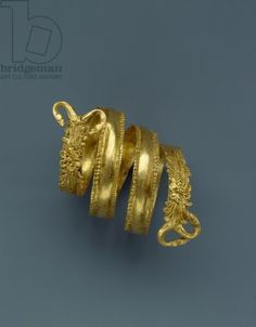 Spiral ring , from Herakleia (Heraclea), southern necropolis, tomb 22 Location Museo Nazionale della Siritide, Policoro, Italy Medium Gold