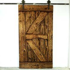 Rustykalne, dębowe drzwi przesuwne FLINSTON