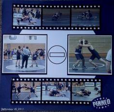 Pinned Wrestling Layout - Scrapbook.com