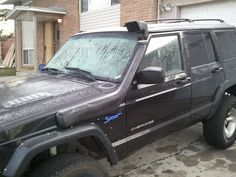 This cherokee is ready to go for a stream scuba. Snorkels are great for water crossings.