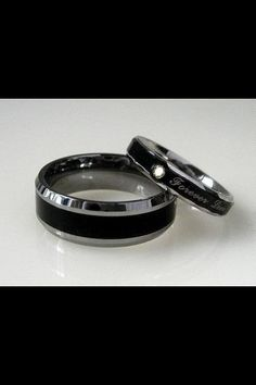 I love these simple wedding bands. Personally i wouldnt have the inscription