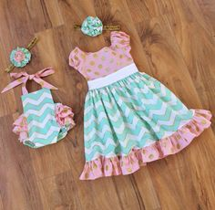 I HAVE TO HAVE OUTFITS LIKE THIS FOR MY GIRLS! Matching Sister Set. Ruffled Romper Sunsuit and by SweetRedPoppy, $85.00