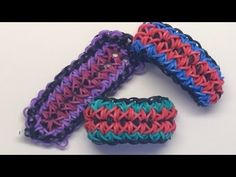 Rainbow Loom AMERICANA Bracelet. Designed and loomed by Mario at OfficiallyLoomed. Click photo for YouTube tutorial. 03/06/14.