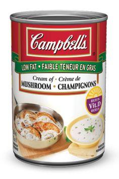 Soupe condensée Crème de champignons à faible teneur en gras, de CAMPBELL'S®