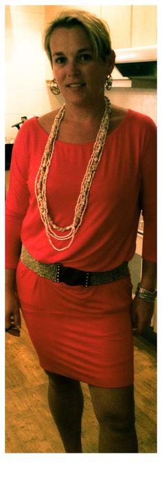 Zani's streetwear, Anzel dress in red