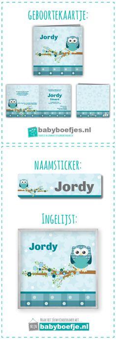 #geboortekaartjes #naamsticker #wanddecoratie #babykamer #uiltje #groen #mintgroen.  In dezelfde stijl als je geboortekaartje bieden wij ook naamstickers en een ingelijst ontwerp aan. Op deze manier kun je in dezelfde stijl je babykamer nog verder opvrolijken. De geboortekaartjes zijn verkrijgbaar op www.babyboefjes.nl. De naamstickers en wanddecoratie op www.mijnbabyboefje.nl