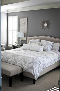 20 Relaxing Gray Bedrooms Ideas