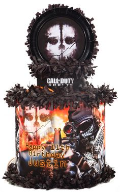 World of Pinatas - Call of Duty Ghost Personalized Pinata, $39.99 (http://www.worldofpinatas.com/call-of-duty-ghost-personalized-pinata/)