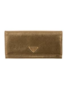 Prada Saffiano Comtinental Wallet