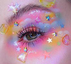 Cute Makeup Looks, Makeup Eye Looks, Eye Makeup Art, Pretty Makeup, Aesthetic Eyes, Aesthetic Makeup, Tumblr Make Up, Pastell Make-up, Make Up Designs