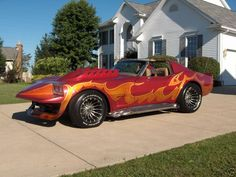 """From the movie, """"Corvette Summer."""" Starring that guy from that sci-fi movie. Peterbilt, Famous Movie Cars, Corvette America, Corvette Summer, Sweet Cars, Drag Cars, Chevrolet Corvette, Chevy, Car Car"""