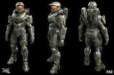 Halo Master Chief Textures and materials by Kyle Hefley Hi-Res Techsuit by Sean Binder Hi-Res Armor and AR by Dan Sarkar Low Poly by Matt Aldridge Halo Master Chief, Master Chief Armor, Master Chief Petty Officer, Halo 5, Halo Game, Halo Reach, Halo Tattoo, 343 Industries, Halo Armor