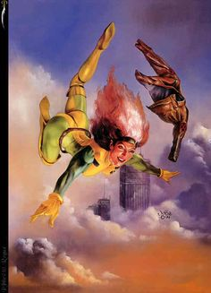 ROGUE by Julie Bell, fantasy art, julie and boris vallejo, cool first pic of rogue ive seen!