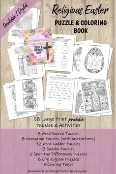 Printable Religious Easter Puzzle & Coloring Book Sudokus | Etsy Printable Puzzles, Printables, Brain Teasers For Adults, Easter Puzzles, Easter Religious, Logic Puzzles, Brain Health, Critical Thinking, Problem Solving