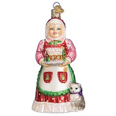 Mrs. Claus Glass Ornament