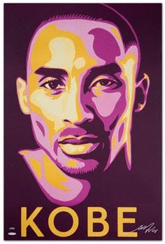 Specially commissioned by Upper Deck and created by prominent artist Shepard Fairey. This iconic litho of MVP Kobe Bryant incorporates a rich mixture of Lakers team colours. Kobe Bryant Family, Lakers Kobe Bryant, Obama Poster, Portrait Vector, Kobe Bryant Pictures, Kobe Bryant Black Mamba, Posca Art, Basketball Art, Basketball Drawings