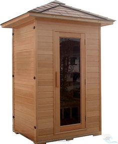 New 2 Two Person OUTDOOR FIR Infrared Sauna SPA   Canadian Hemlock Weather  Res.