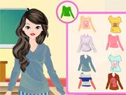 Free Online Girl Games, Get ready for a new school year in Sophomore Style Makeover!  You'll have to find the perfect makeup, hairstyle and outfit so you'll look your best while you are in class!  See what type of style you can create!, #college #student #dressup #girl #fashion #style #makeover #makeup