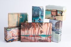 Beach Painting Wrapping Paper by NormansPrintery on Etsy