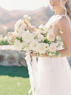Nov 2019 - This Might Just Be Our New Favorite Malibu Wedding Venue Summer Wedding Bouquets, Bride Bouquets, Wedding Dresses, Bridal Gowns, Neutral Wedding Flowers, Floral Wedding, Wedding Colors, Wedding Venues, Wedding Day