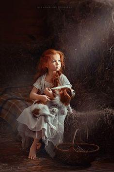 Girl and dog – kleines Mädchen mit Hund - Dog Photography Children Photography, Art Photography, Illustration, Girl And Dog, Animals For Kids, Beautiful Paintings, Beautiful Children, Dog Art, Belle Photo