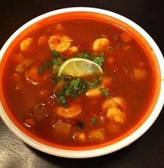 Caldo de Camaron (Spicy Shrimp Soup)