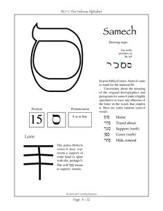 The fifteenth letter of the Hebrew alphabet.