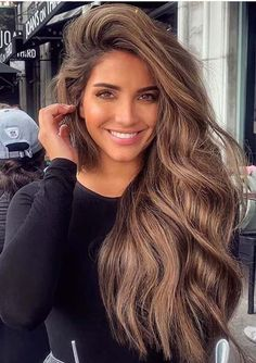 Mom Hairstyles, Modern Hairstyles, Straight Hairstyles, Hairstyle Ideas, Long Hairstyles With Bangs, Bangs Hairstyle, Bridal Hairstyle, Beautiful Hair Color, Cool Hair Color