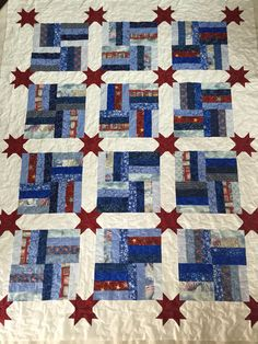 Quilt of Valor made by Audrey I free motion quilted today.  By Dawn Feb. 2015