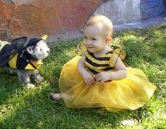 """A couple of cute """"bumble bees"""" at Halloween!"""