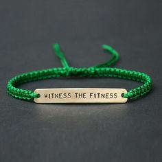 'Witness the Fitness' Lyric Macramé Friendship Bracelet