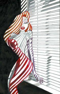 Jessica Rabbit - Original Painting - Tony Fernandez - Originele kunst - W. Justitia Tattoo, Girl Cartoon, Cartoon Art, Jessica And Roger Rabbit, Jessica Rabbit Tattoo, Jessica Rabit, Character Art, Character Design, Gravure Illustration