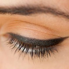 Learn the pro beauty trick to creating the perfect line of eyeliner everytime. | Health.com