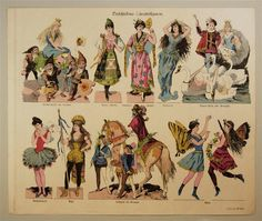 Paper Theater FairyTale character sheet Nr. 555 c1900 - J.F.Schreiber at http://skd-online-collection.skd.museum/en/contents/show?id=323585#
