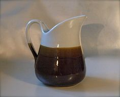 Pitcher with a spout in Brown and Wheat a by MissPattisAttic, $8.00