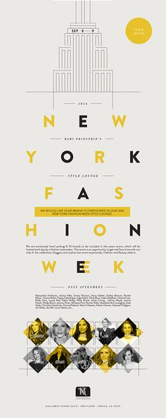 Kari Feinstein's Style Lounge digital flyer for NY Fashion Week by Eugenia Anselmo #flyers