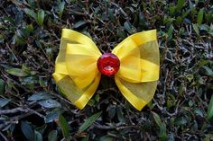 Princess Belle Hair Bow Clip by SweetOnTopShop on Etsy, $6.50