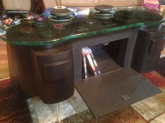 Handmade Game controller table by WoodCurve on Etsy