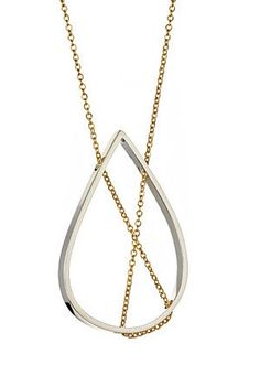 Petal Necklace 101 in Sterling Silver and Gold by Vanessa Gade