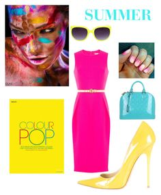 """Summer Brights"" by kotnourka ❤ liked on Polyvore featuring Michael Kors, Jimmy Choo and Louis Vuitton"