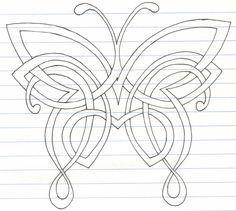 Celtic Butterfly by darkartmind on DeviantArt Celtic Symbols, Celtic Art, Celtic Knots, Mayan Symbols, Celtic Dragon, Egyptian Symbols, Ancient Symbols, Tiger Pattern, 3d Pattern